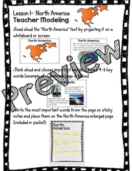 Continents Integrated Unit: Note-taking, Research, Writing, & Presenting in K-2