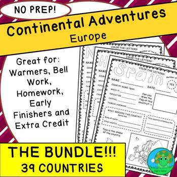 Continental Adventures Europe THE BUNDLE
