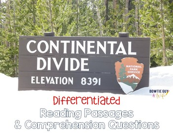 Continental Divide {Differentiated Close Reading Passages