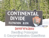 Continental Divide {Differentiated Close Reading Passages & Questions}