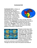 Continental Drift Common Core Activity