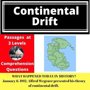 Continental Drift Differentiated Reading Passage January 6