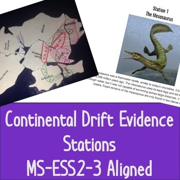 Continental Drift Evidence Stations, MS-ESS2-3 Aligned