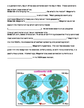 Continental Drift Guided Notes