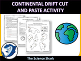 Continental Drift Cut and Paste Activity/ Crossword