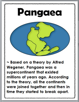 Continental Drift - Pangaea Posters, Flip Book, Interactive Flap Book, & More