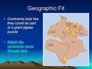 Continental Drift & Plate Tectonics Powerpoint includes Animations