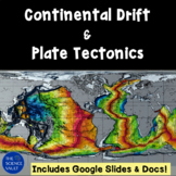 Continental Drift & Plate Tectonics w Layers of Earth incl
