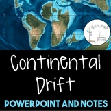 Continental Drift PowerPoint and Notes--1 Day Lesson