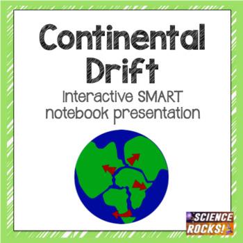 Continental Drift SMART notebook presentation