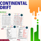 Continental Drift Science Activity Bundle Scramble Word Fi