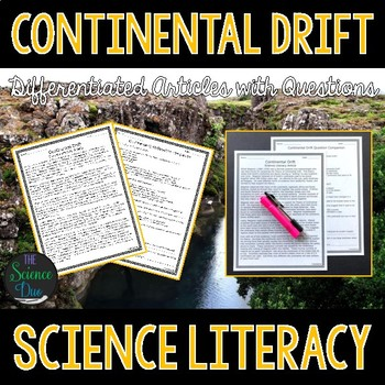 Continental Drift - Science Literacy Article