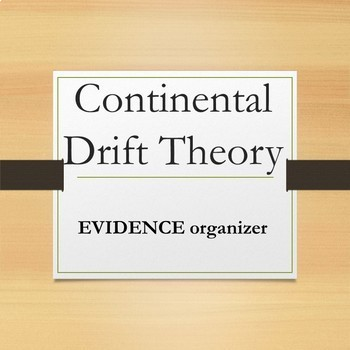Continental Drift Theory Graphic Organizer