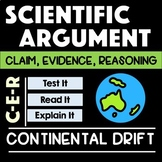 Wegener's Continental Drift Argument with Claim Evidence Reasoning