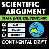Wegener's Continental Drift Argument with Claim Evidence Reasoning