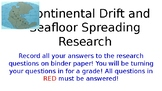 Continental Drift and Seafloor Spreading Webquest