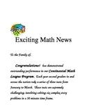 Continental Math League Parent Letter