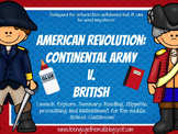American Revolution: Continentals v. British Interactive Notebook
