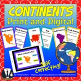 Continents Trading Cards and Word Wall Posters