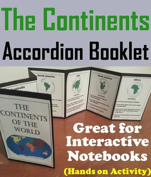 Seven Continents Interactive Notebook Activity/ Foldable