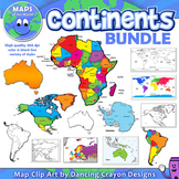 Continents Maps of the World Clipart