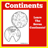 Continents   1st 2nd 3rd 4th 5th Grade   Craft Activity  