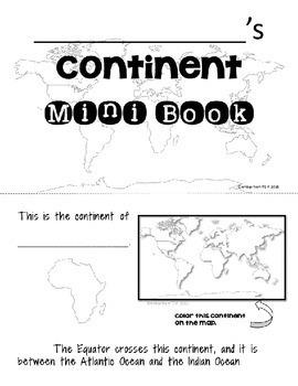 Continents Mini Book