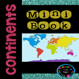 Continents Mini Book