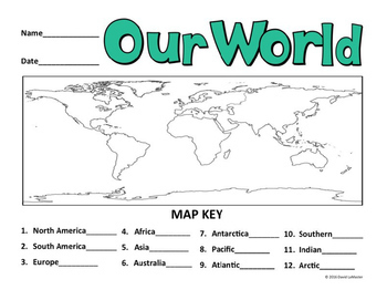 """Continents and Oceans """"Coloring"""""""
