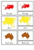 Continents 3-part cards, Outlines, Silhouettes - Montessori Seven Continents