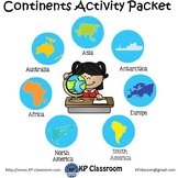 Continents Activity Packet and Worksheets