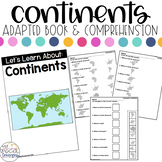 Continents Adapted Book & Comprehension for Special Education