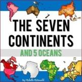 The Seven Continents & Five Oceans Reading Passages Activities (Print & Digital)