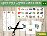 Continent & Animal Cutting Strips - Scissor Practice