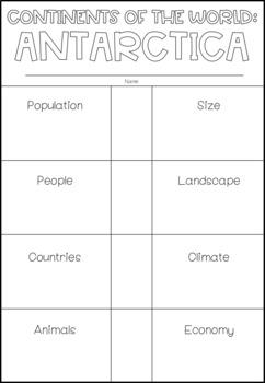 Continents: Antarctica Interactive Flip Book / Poster