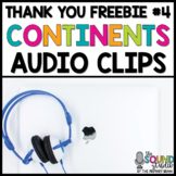 Continents Audio Clips FREEBIE | Sound Files for Digital R