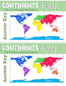 Continents Bump Game!