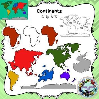 Continents Clip Art