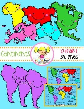 Continents Clipart