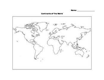 Continents Coloring Activity