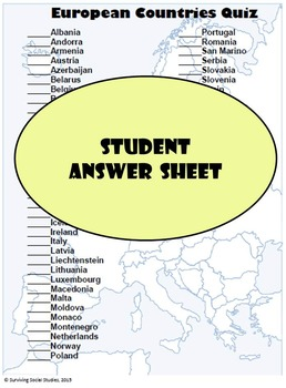 Continents - Country Identification Quizzes Bundle - 6 Different Quizzes!