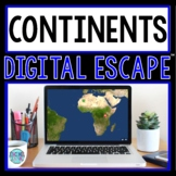 Continents DIGITAL ESCAPE ROOM for Google Drive® | Geography