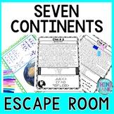 Continents ESCAPE ROOM!     NO PREP, PRINT & GO!