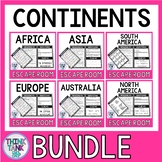 Continents Escape Rooms BUNDLE - World Geography