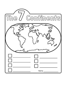 Continents Flip Book