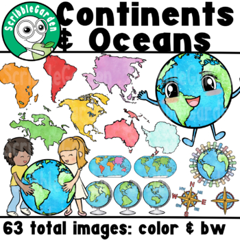Continents Geography ClipArt