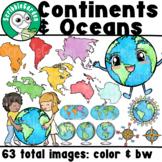 Continents & Oceans ClipArt