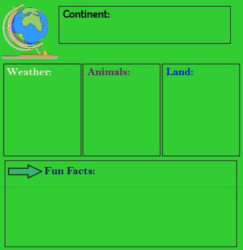 Continents Graphic Organizer