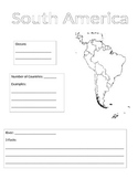 Continents Information Gathering Sheet - South America