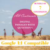 Continents Informational Text Passages with Questions and Answer Key